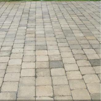 Тротуарная плитка Золотой Мандарин Квадрат Антик 160х160х90 мм полный прокрас горчичный