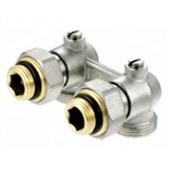 Кутовий нікельований клапан PERFEKTsystem для двотрубних систем