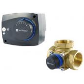 Комплект триходовий клапан Afriso ARV 384 електропривод ARM 343