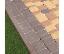 Поребрик Золотой Мандарин 1000х200х80 мм на сером цементе коричневый