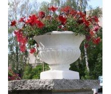 Бетонная ваза Золотой Мандарин Стандарт 430 мм белая