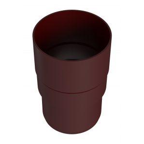 З'єднувач водостічної труби River 90 мм червоний