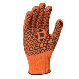 Рукавички робочі №4470 з 2-х сторін точка ПВХ 10 клас помаранчеві