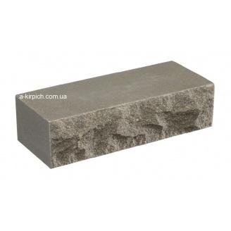 Облицовочный кирпич LAND BRICK скала светло-серый полнотелый 250х100х65 мм