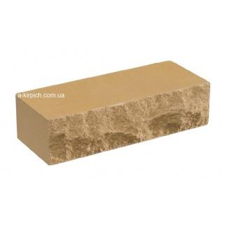 Облицовочный кирпич LAND BRICK скала слоновая кость полнотелый 250х100х65 мм