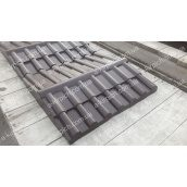 Крышка на забор LAND BRICK Черепица коричневая 450х500 мм