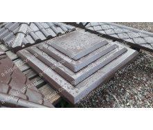 Крышка на забор LAND BRICK Египет коричневая 400х400 мм