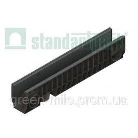 Лоток водовідвідний PolyMax Basic ЛВ-10.16.20-ПП пластик А-З 160х200х1000 мм (8040)