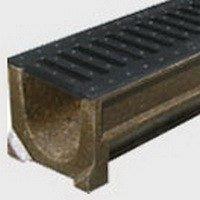 Лоток водоотводный Standard H-123 полимербетон А-С 123х141х1000 мм (7000)