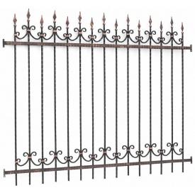 Забор с коваными элементами под заказ