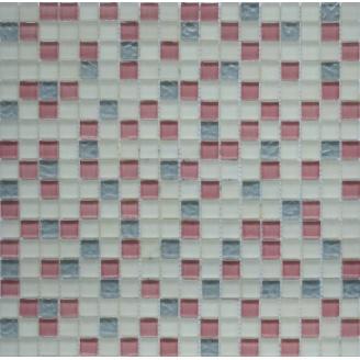 Мозаїка Grand Kerama мікс рожевий-білий-сірий 300х300 мм (581)