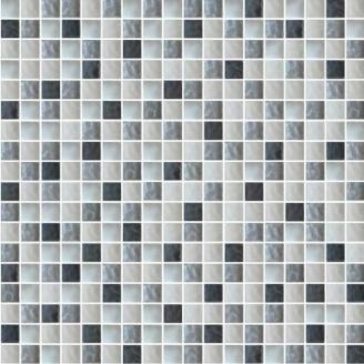 Мозаїка Grand Kerama мікс чорний-сірий-білий 300х300 мм (579)