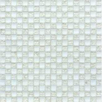 Мозаїка Grand Kerama шахматка білий матовий білий колотий 300х300 мм (538)
