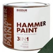 Краска молотковая 3 в 1 Biodur 2,1 л темно-зеленый