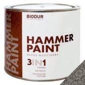 Краска молотковая 3 в 1 Biodur 0,7 л серый