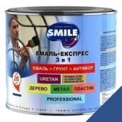 Эмаль Экспресс антикоррозионная 3 в 1 Smile 2,2 кг для крыш синий RAL 5005