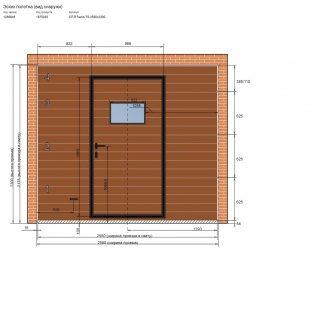 Гаражні секційні автоматичні ворота 2580х2300 мм з хвірткою