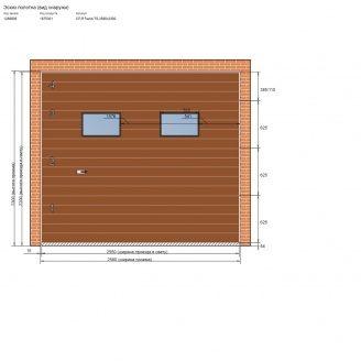 Секционные гаражные ворота 2580x2300 мм с окошками