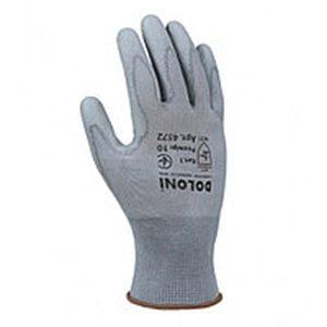 Перчатки трикотажные Doloni нитрил гладкие размер 8 серые (4576)