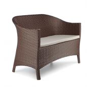 Садовый диван Белиссимо искусственный ротанг 118х82х64 см коричневый