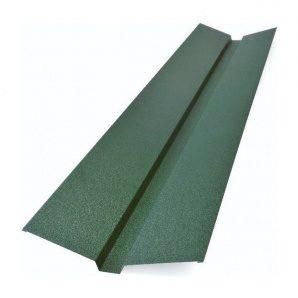 Накладка желоба декоративная Тайл 105х20х40х20х105 мм зеленая
