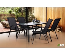 Комплект мебели для кафе AMF Cancun + Puerto Black 5 шт