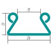 Крепление для тепличной пленки зигзаг 0,70 мм