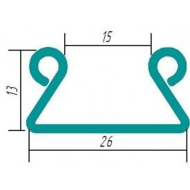 Кріплення для тепличної плівки зигзаг 0,70 мм