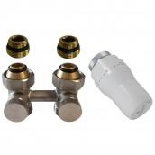 Термостатичний комплект нижнього підключення прямий Schlosser GZ1/2xGZ3/4 (600800054UA)