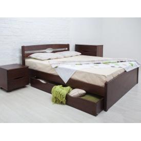 Ліжко дерев'яна Ліка Люкс з ящиками ТМ Олімп