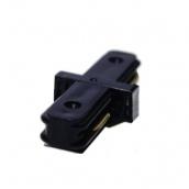 Коннектор для рейок трекових світильників Ledmax I-1-PHS ADAPTER прямий чорний