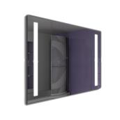 Дзеркало Zazerkalie Siglesto D2 двостороннє підсвічування 600х800 мм з сенсорною кнопкою