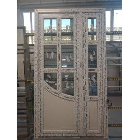 Двери двухстворчатые шестикамерный дверной профиль WDS 1100x1950 мм