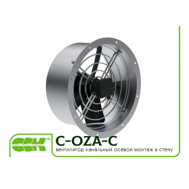 Вентилятор канальный осевой монтаж в стену C-OZA-C-050-380