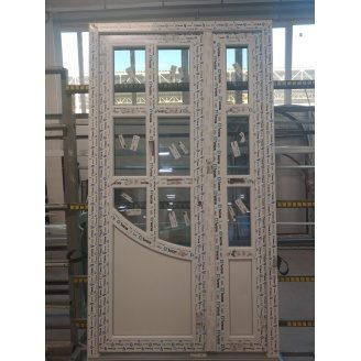 Двері двостулкові 5-камерні дверні профіль WDS 1100x2000 мм