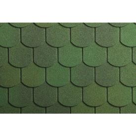 Бітумна черепиця Icopal Хвіст Бобра А4 1000х317 мм зелений