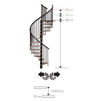 Гвинтові сходи MINKA SPIRAL Effect 160 см