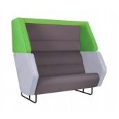 Диван Amf Shell зеленый светло-серый