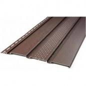 Панель софіта Айдахо перфорована коричнева 0,90 м2 /шт
