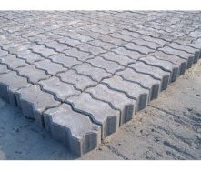 Тротуарная плитка Фалка 230х120х80 мм серая