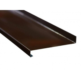 Алюминиевый отлив 0,8 мм 150 мм коричневый (RAL 8014)
