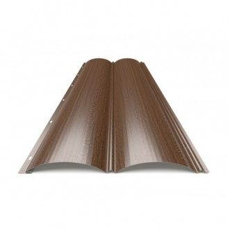 Металлический сайдинг Блок-Хаус тип 1 Темное Дерево