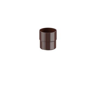 Соединитель трубы Fitt 80 мм коричневый