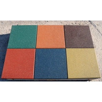 Резиновая плитка 40х500х500 мм голубая