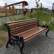 Лавка садово-паркова Імпекс-Груп Лев сосна 1850х700х860 мм (IMPA765)