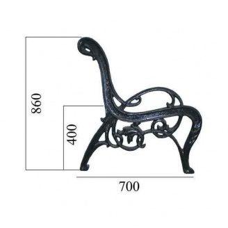 Боковина к скамье Импекс-Груп №7 700х860 мм (18.10) (IMPA823)