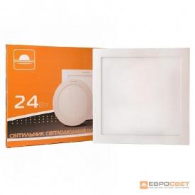 Светильник точечный врезной ЕВРОСВЕТ 24 Вт LED-S-300-24 4200 К квадрат