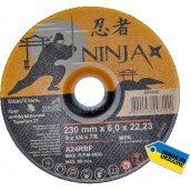 Круг шлифовальный по металлу NINJA TM VIROK тип 27 230x22,23 мм 6,0 мм