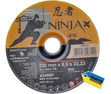 Круг шліфувальний по металу NINJA TM VIROK тип 27 230x22,23 мм 6,0 мм