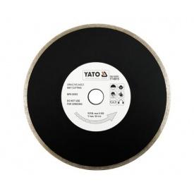 Круг отрезной алмазный для мокрой резки YATО 230x5,3x22,2 мм 2,7 мм